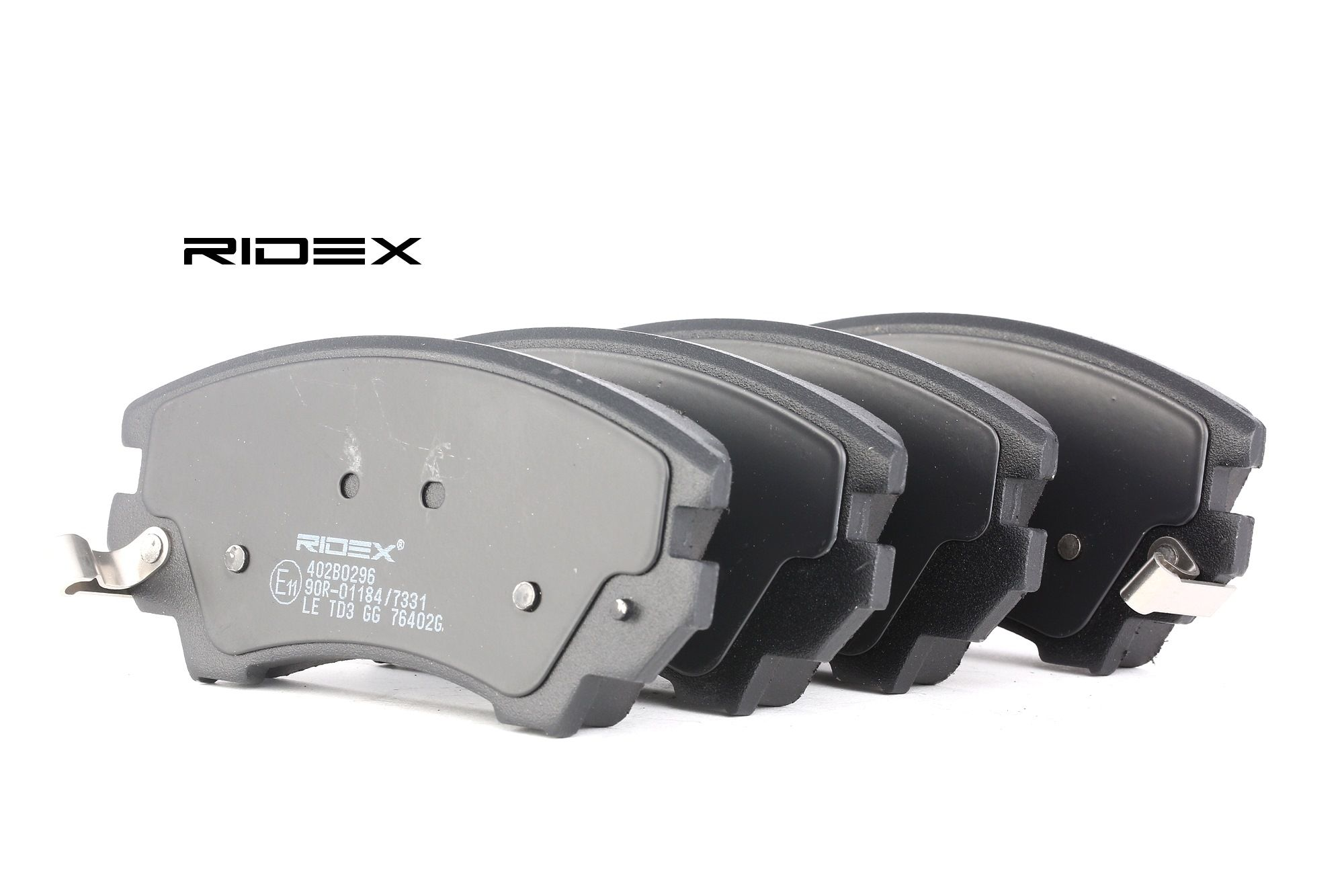 RIDEX: Original Bremsklötze 402B0296 (Höhe: 66,7mm, Breite: 142,1mm, Dicke/Stärke: 19,1mm)
