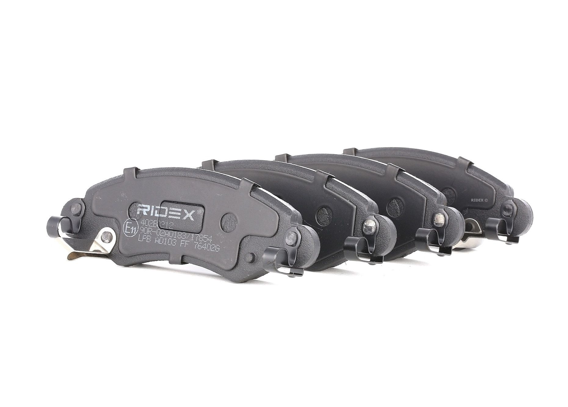 402B0212 RIDEX Vorderachse, mit akustischer Verschleißwarnung, Achsausf.: Front Höhe: 43,9mm, Breite: 130,7mm, Dicke/Stärke: 16mm Bremsbelagsatz, Scheibenbremse 402B0212 günstig kaufen