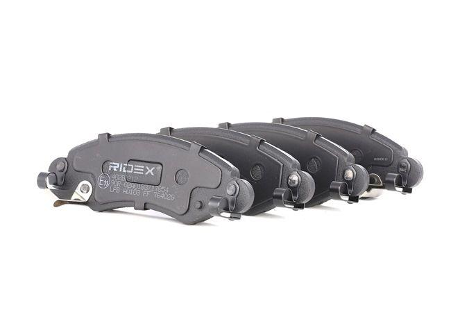 RIDEX: Original Bremssteine 402B0212 (Höhe: 43,9mm, Breite: 130,7mm, Dicke/Stärke: 16mm)