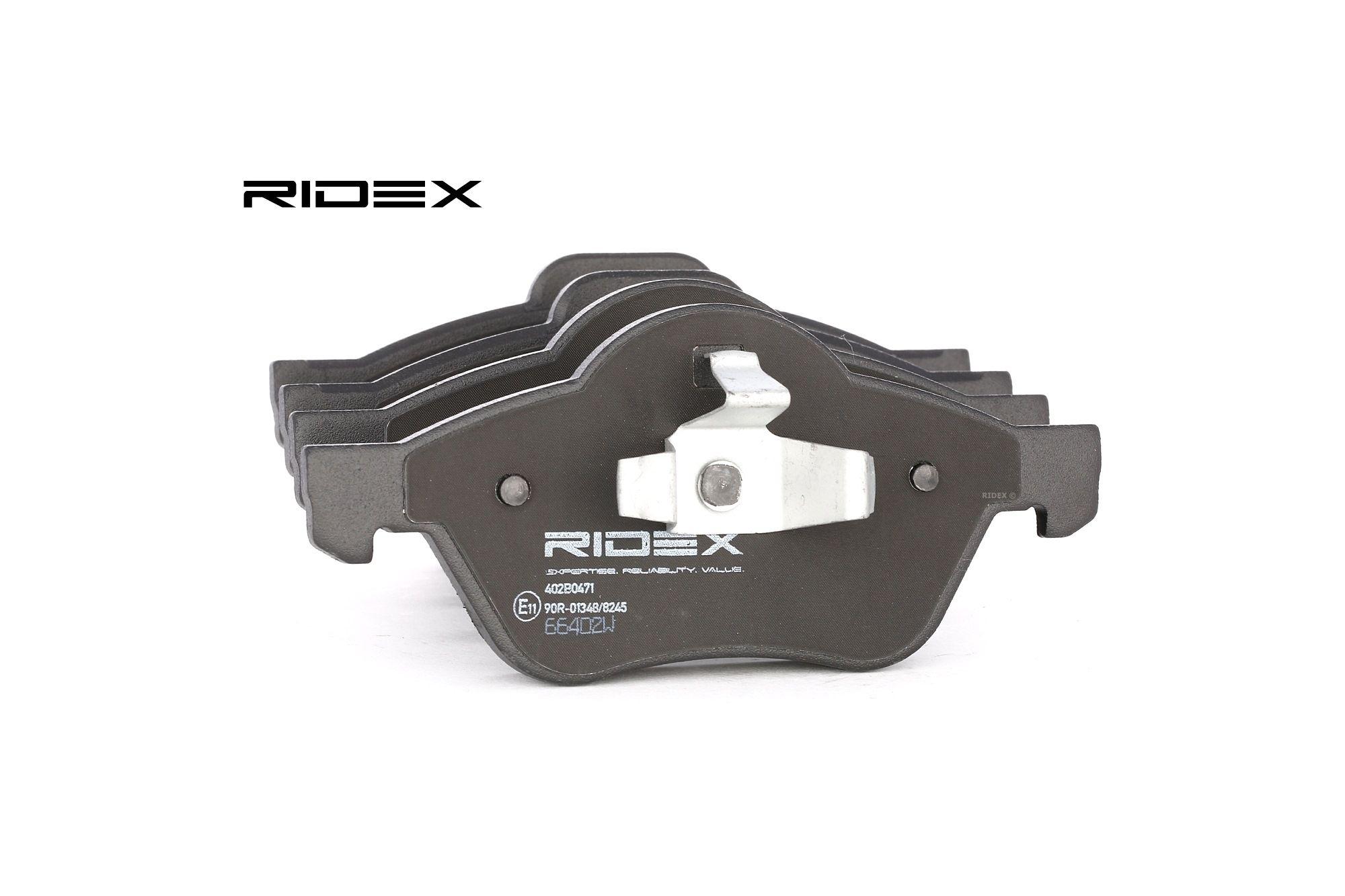 RIDEX 402B0471 (Hauteur 1: 69mm, Hauteur 2: 66,5mm, Épaisseur: 18mm) : Plaquette de frein sport Renault Twingo 2 2021