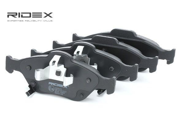 RIDEX: Original Bremsbelagsatz 402B0274 (Höhe 1: 61,17mm, Höhe 2: 58,5mm, Breite 1: 150,1mm, Breite 2: 151,3mm, Dicke/Stärke 2: 17,8mm)