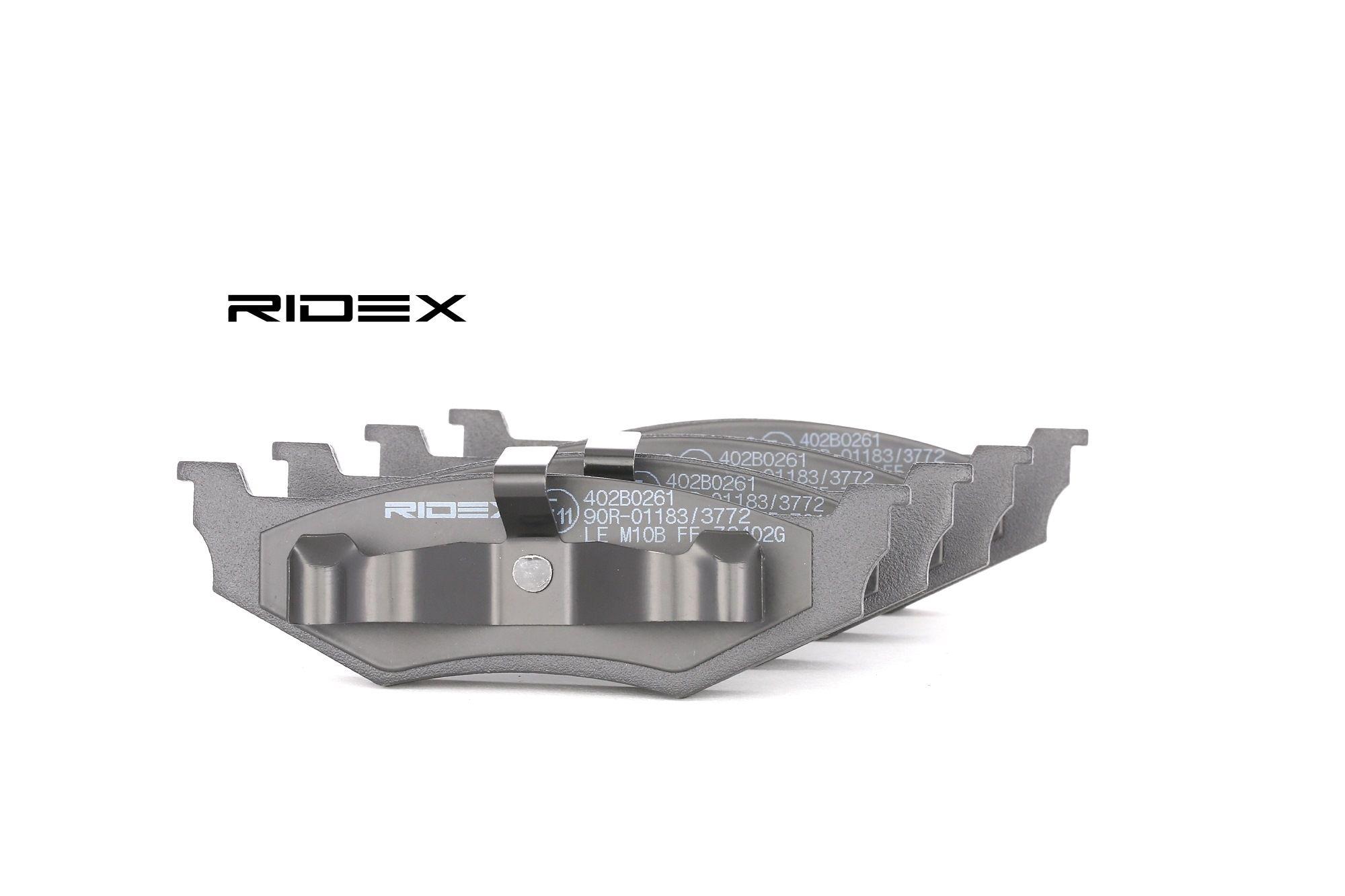 CHRYSLER PT CRUISER 2010 Bremsklötze - Original RIDEX 402B0261 Höhe 1: 39,8mm, Breite 1: 133,6mm, Dicke/Stärke 1: 17mm