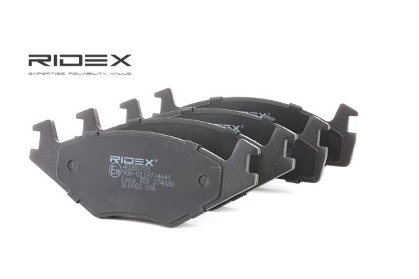 Kupte a vyměňte Sada brzdových destiček, kotoučová brzda RIDEX 402B0705