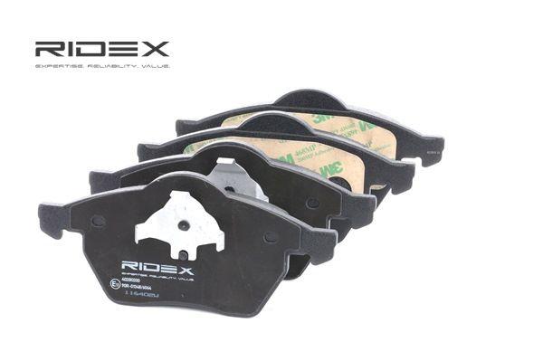 stabdžių trinkelių rinkinys, diskinis stabdys 402B0200 su puikiu RIDEX kainos/kokybės santykiu