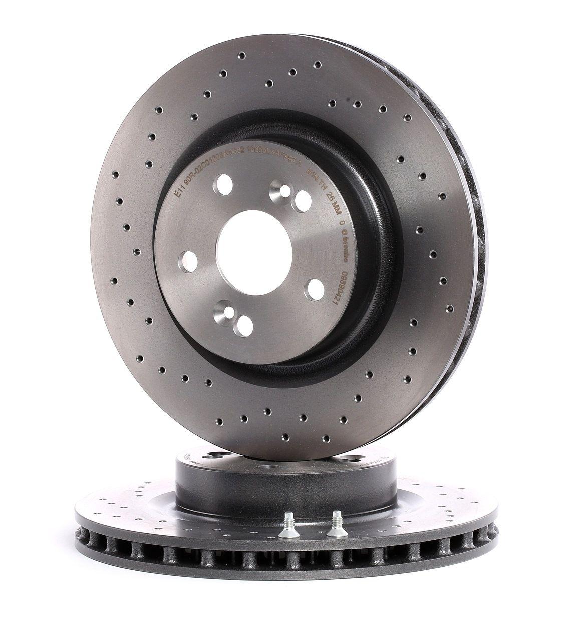 Achat de 09.8904.21 BREMBO COATED DISC LINE poinçonné/ventilé, revêtu, à haute teneur en carbone, avec vis/boulons Ø: 312mm, Nbre de trous: 5, Épaisseur du disque de frein: 28mm Disque de frein 09.8904.21 pas chères