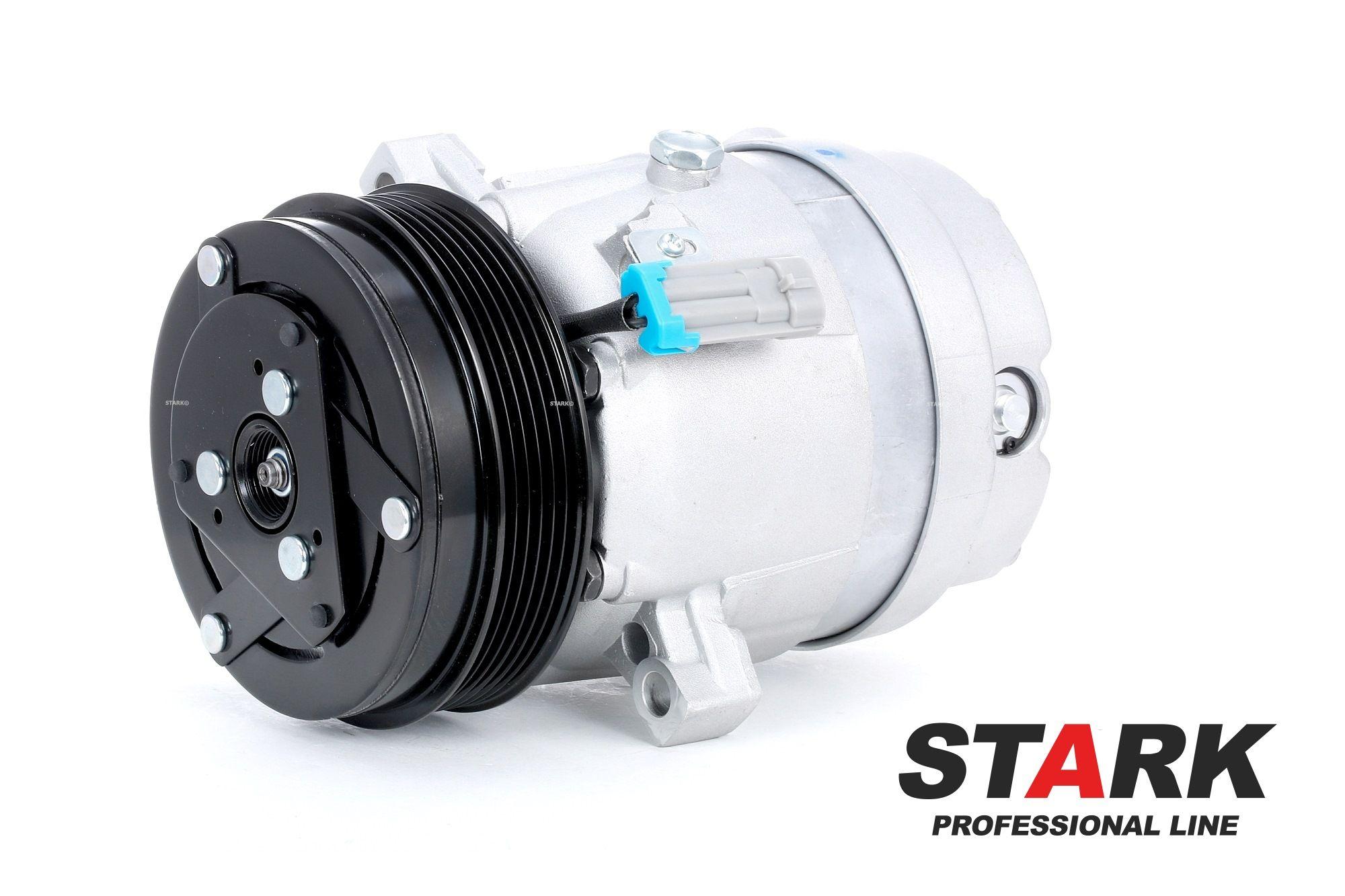 SKKM-0340091 STARK PAG 100, Kältemittel: R 134a, mit PAG-Kompressoröl Riemenscheiben-Ø: 125mm, Anzahl der Rillen: 6 Klimakompressor SKKM-0340091 günstig kaufen