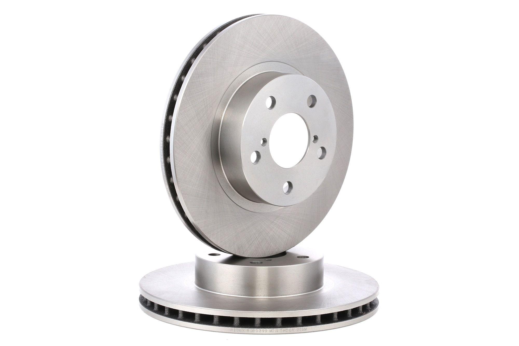 RIDEX: Original Bremsscheibe 82B0399 (Ø: 260,0mm, Bremsscheibendicke: 24mm)