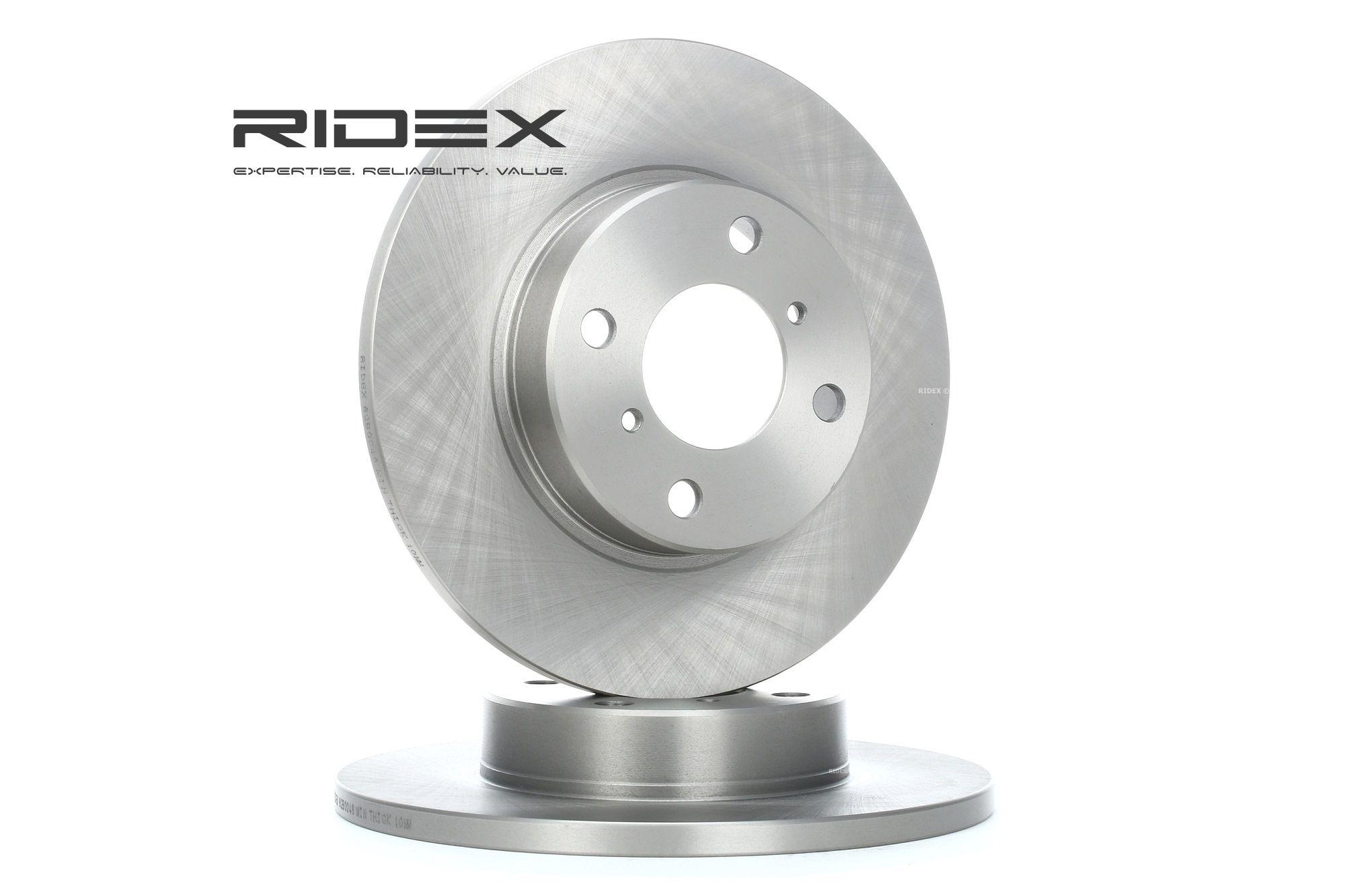 RIDEX: Original Bremsscheiben 82B0248 (Ø: 246,7mm, Bremsscheibendicke: 12,0mm)