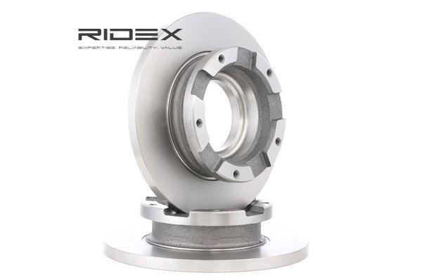 82B0435 RIDEX Hinterachse, Voll, mit ABS-Sensorring Ø: 280mm, Lochanzahl: 5, Bremsscheibendicke: 16mm Bremsscheibe 82B0435 günstig kaufen