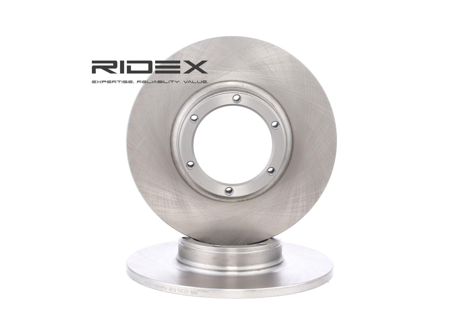 Schijfremmen 82B0854 met een uitzonderlijke RIDEX prijs-prestatieverhouding