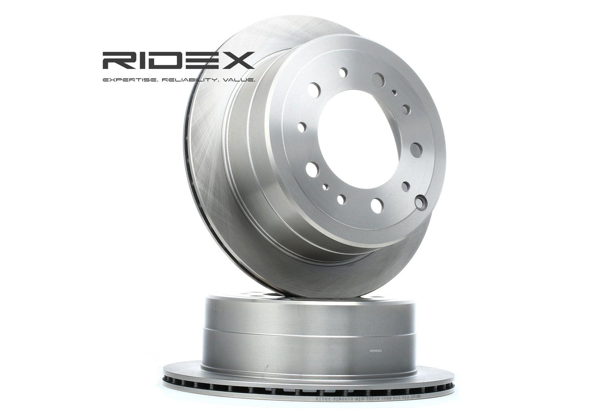 Image of RIDEX Dischi Freno TOYOTA,LEXUS 82B0670 4243160220,4243160221,4243160280 Freni a Disco,Dischi Dei Freni,Disco freno 4243160281