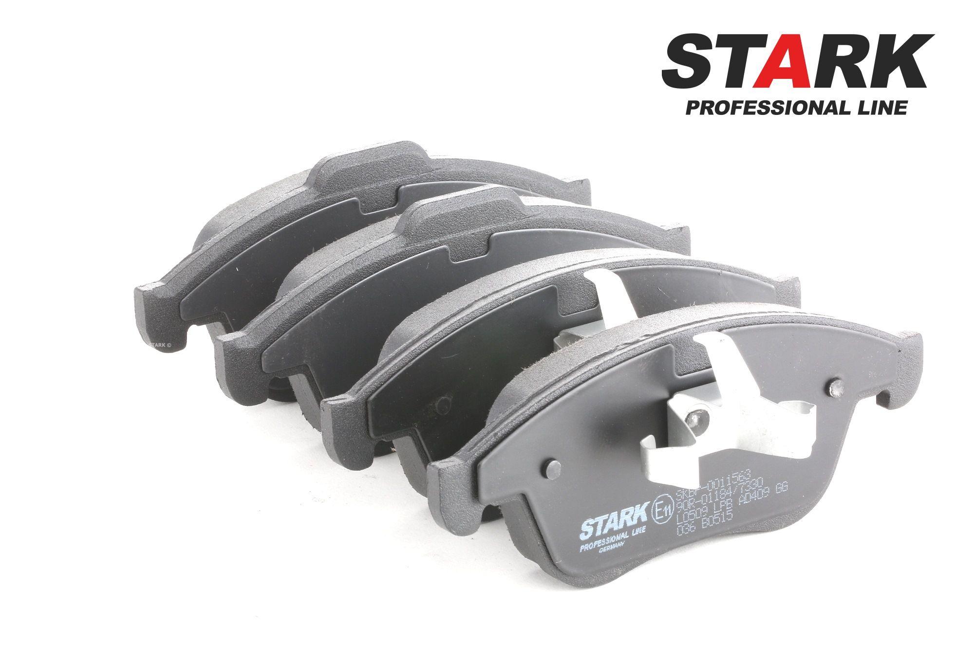 SKBP-0011563 STARK Vorderachse, mit Kolbenclip Höhe 1: 68mm, Höhe 2: 63mm, Breite: 155mm, Dicke/Stärke 2: 18mm, Dicke/Stärke: 17,1mm Bremsbelagsatz, Scheibenbremse SKBP-0011563 günstig kaufen