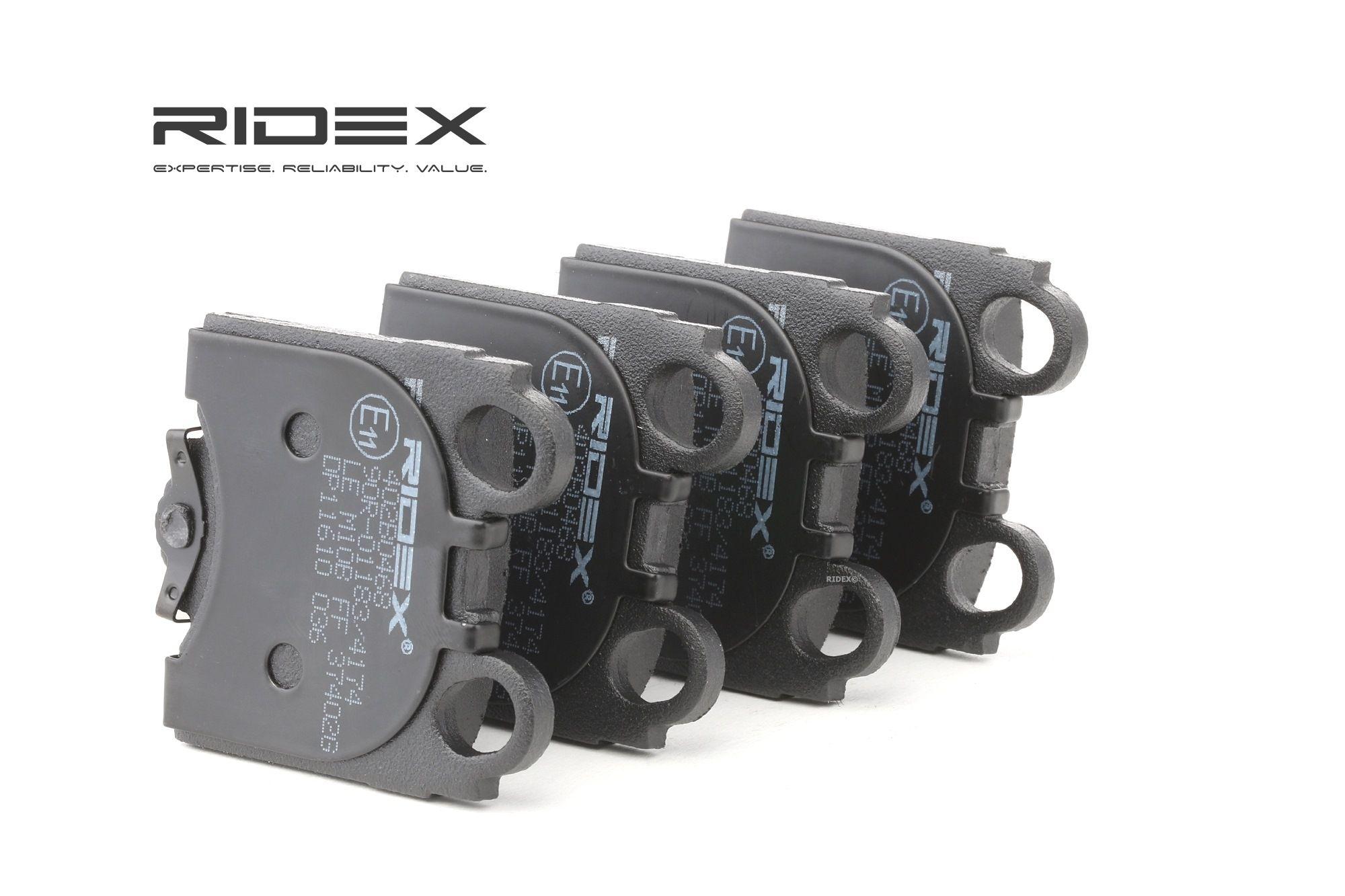LEXUS IS 2020 Bremsbelagsatz - Original RIDEX 402B0468 Höhe: 63,6mm, Breite: 57,2mm, Dicke/Stärke: 15mm