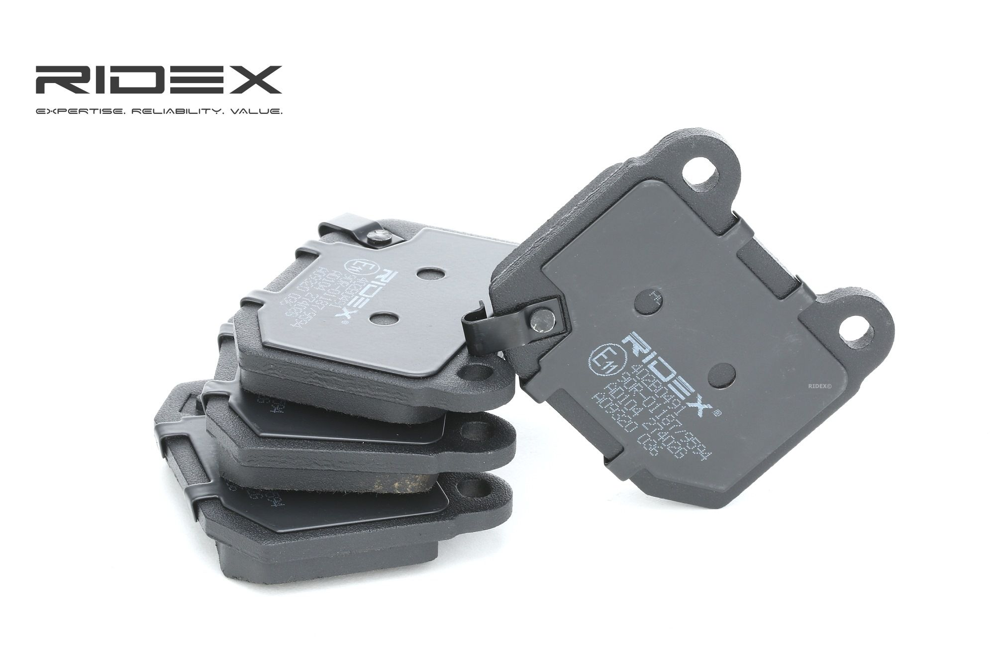 SUBARU WRX 2021 Bremsklötze - Original RIDEX 402B0491 Höhe: 65,5mm, Breite: 76,5mm, Dicke/Stärke: 14,3mm