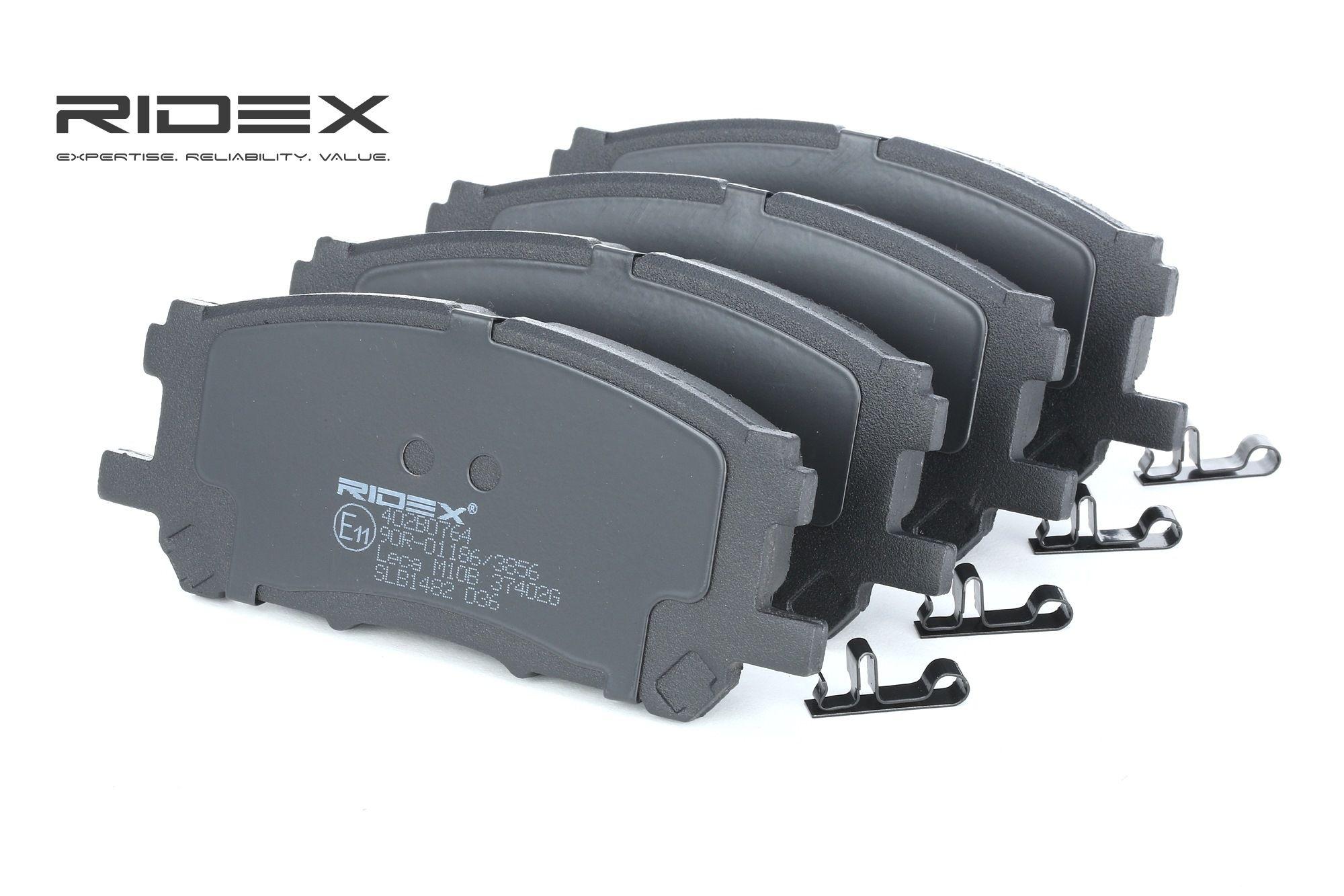 LEXUS GS 2020 Bremsbelagsatz - Original RIDEX 402B0764 Breite: 59,6mm, Dicke/Stärke: 16,9mm