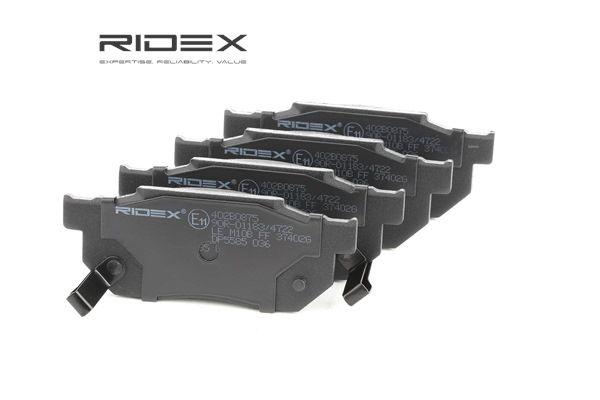 Compre e substitua Jogo de pastilhas para travão de disco RIDEX 402B0875