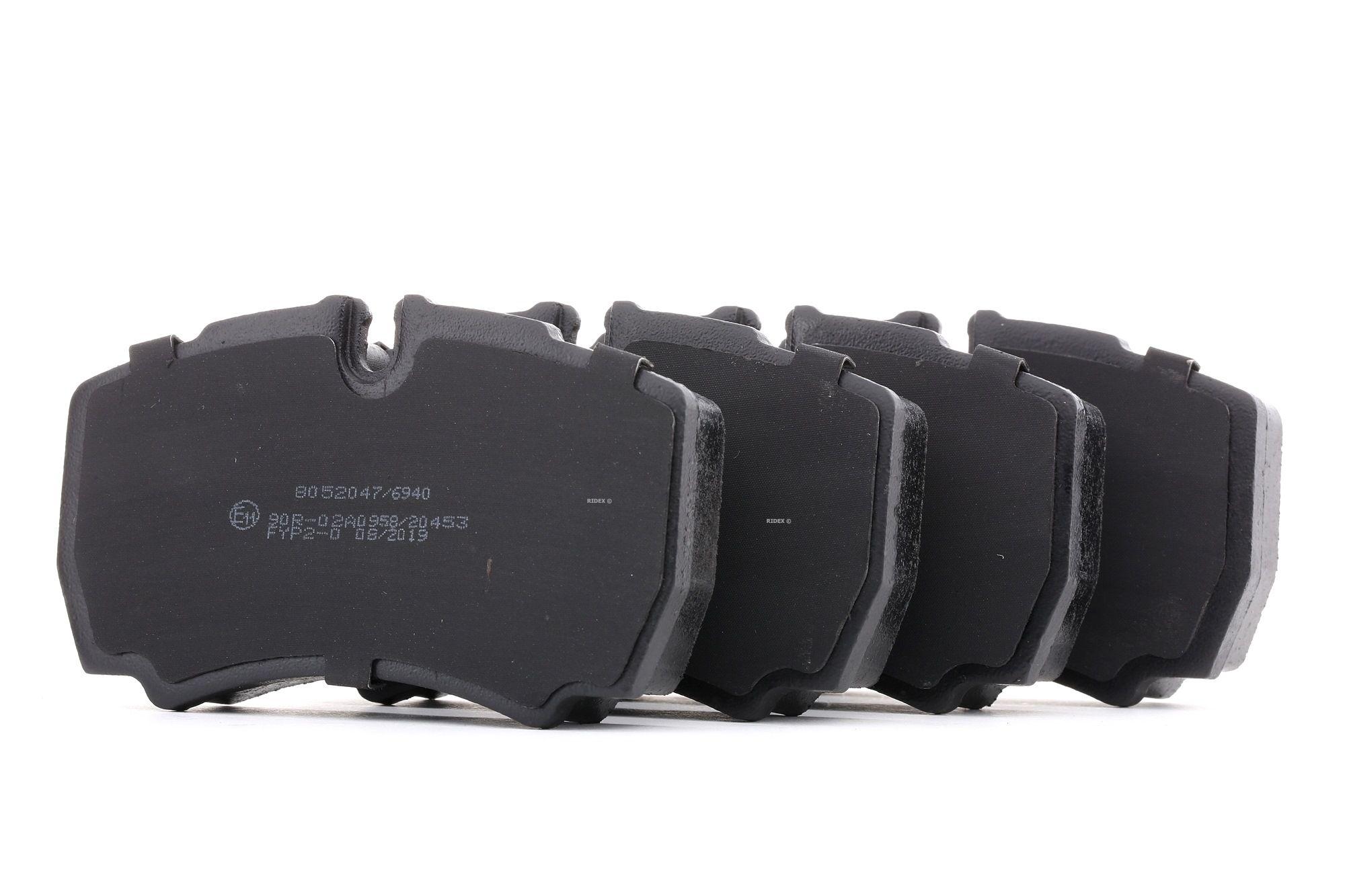 FORD TRANSIT 2020 Bremsbelagsatz - Original RIDEX 402B0865 Höhe 1: 63,9mm, Dicke/Stärke: 20,3mm