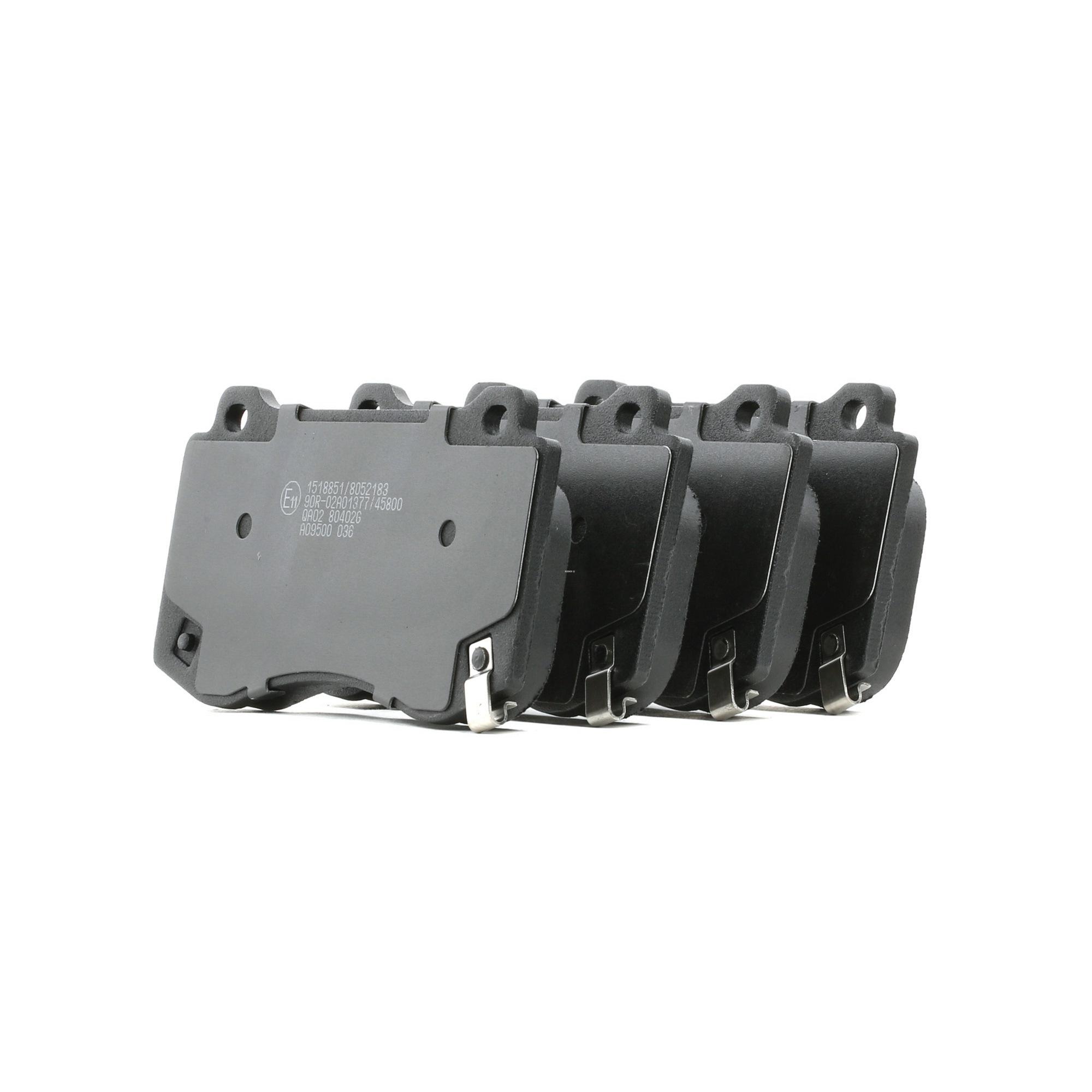 DODGE CHALLENGER 2021 Bremsklötze - Original RIDEX 402B0826 Höhe: 76mm, Breite: 141,7mm, Dicke/Stärke: 17,5mm