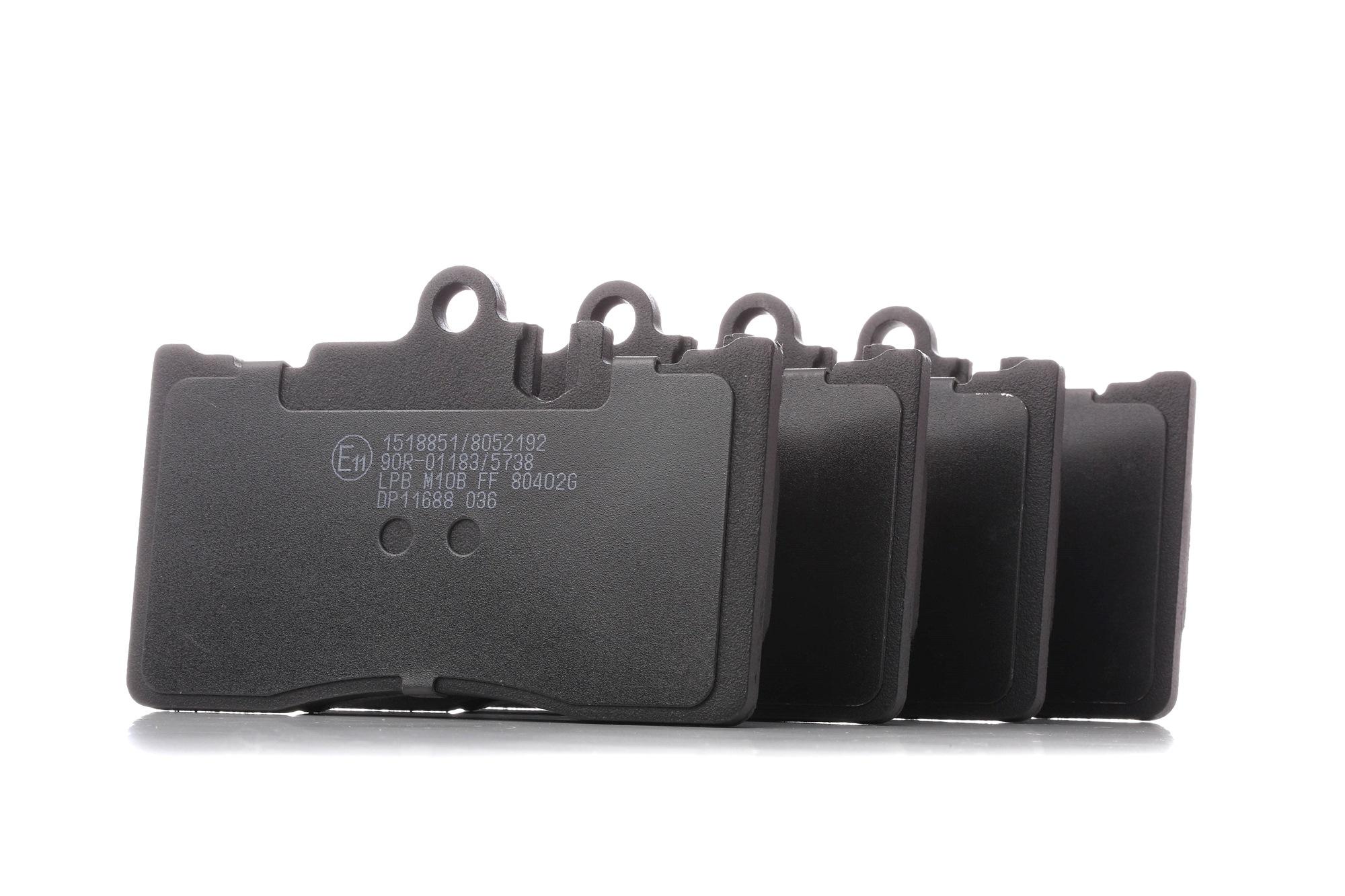LEXUS LS 2020 Bremsbelagsatz - Original RIDEX 402B0726 Höhe: 77,6mm, Breite: 118,7mm, Dicke/Stärke: 16mm