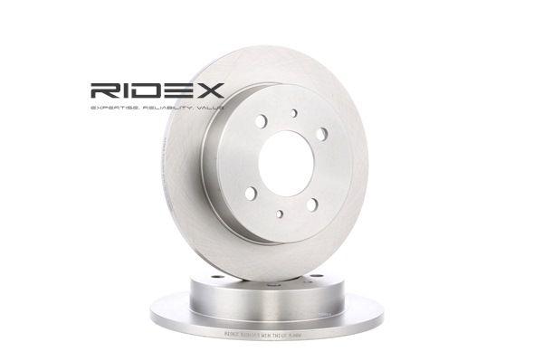 RIDEX Bromsskiva Bakaxel, Solid, utan hjulvnav, utan hjulbultar 82B1050