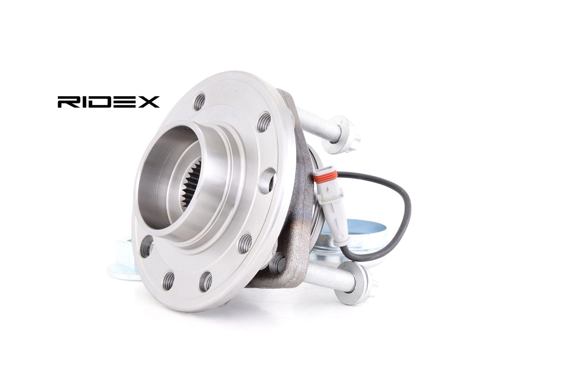 Купете 654W0128 RIDEX предна ос, с вграден сензор за ABS, с маслена шапка Комплект колесен лагер 654W0128 евтино