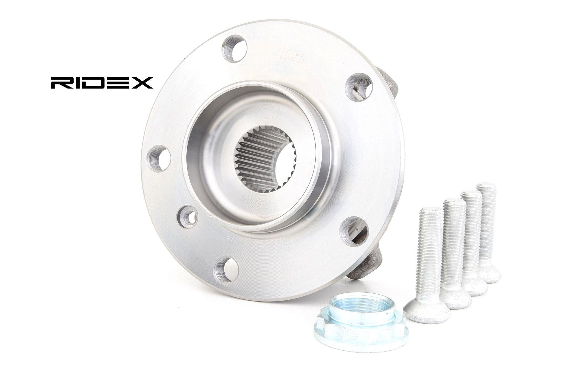 654W0321 RIDEX framaxel, Höger, Vänster, med inbyggd magnetisk sensorring Ø: 33mm Hjullagerssats 654W0321 köp lågt pris