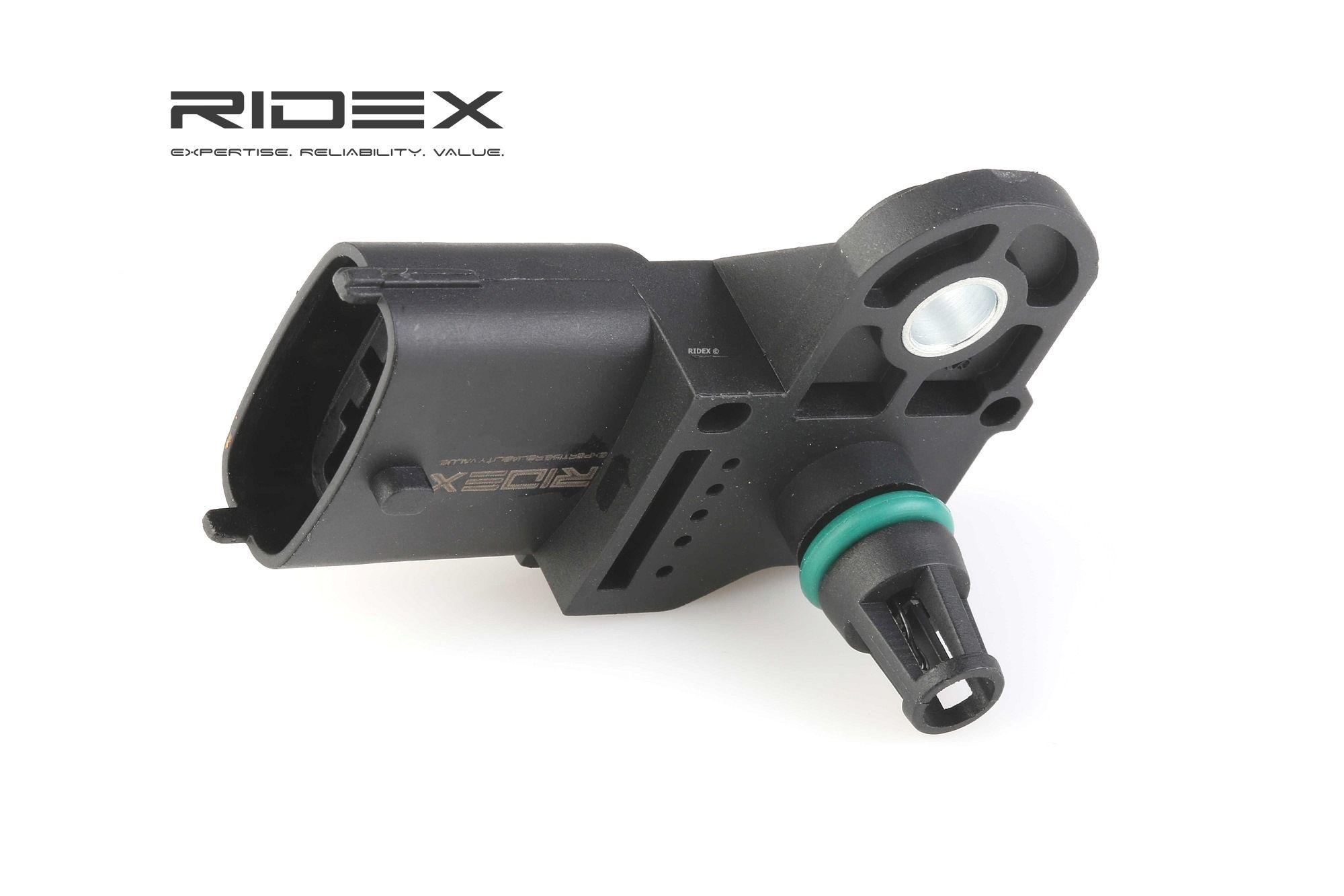 DODGE JOURNEY Ladedrucksensor - Original RIDEX 161B0003 von: 11000Pa, bis: 307000Pa