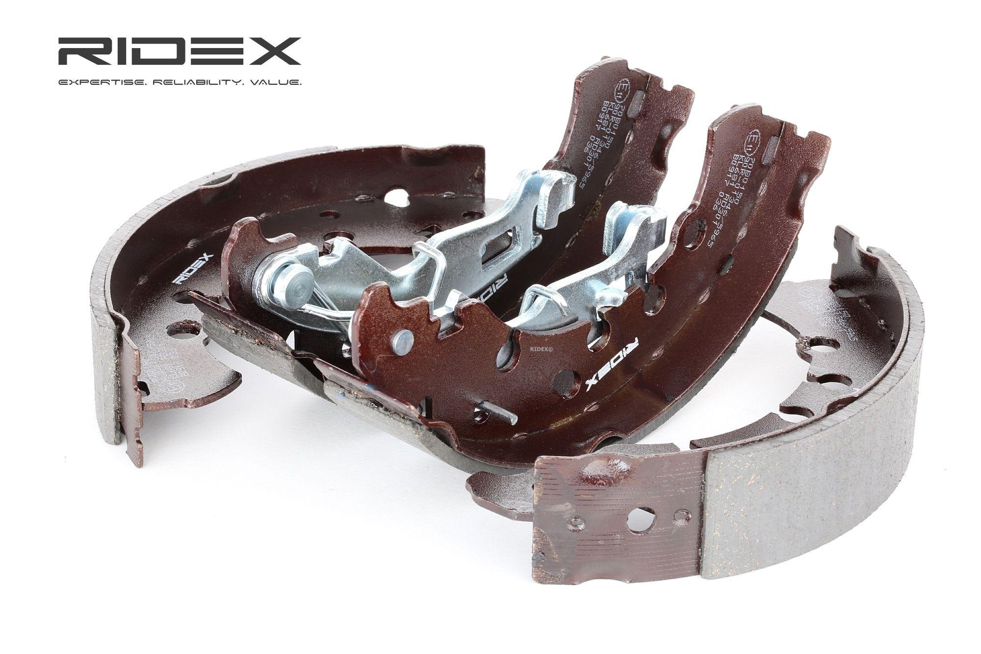 70B0150 RIDEX mit Hebel Trommel-Ø: 203mm, Breite: 38mm Bremsbackensatz 70B0150 günstig kaufen