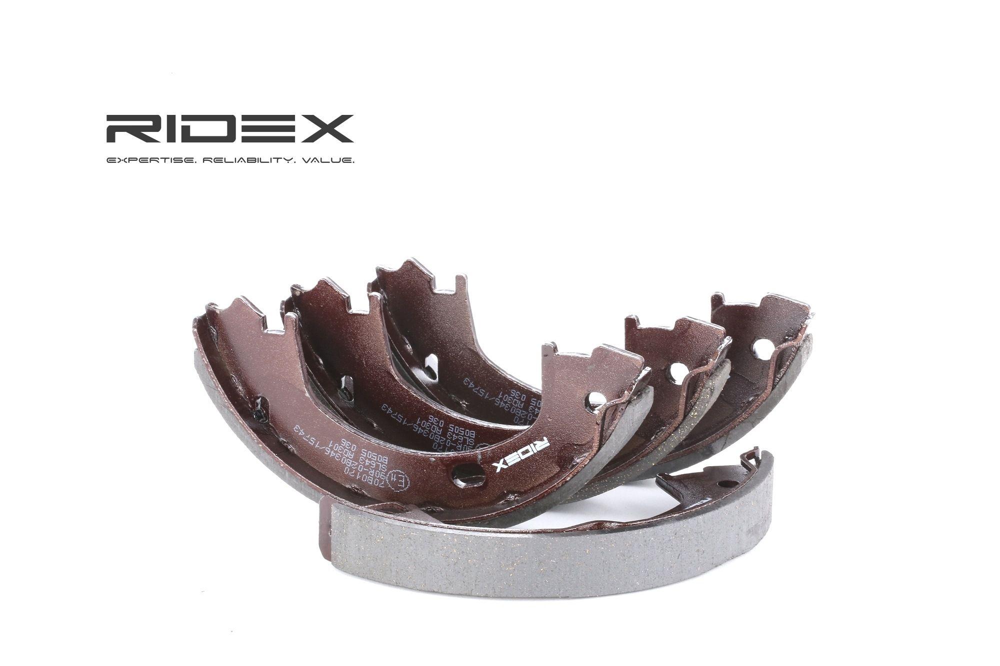 RIDEX: Original Bremsbeläge für Trommelbremsen 70B0170 (Breite: 20mm)