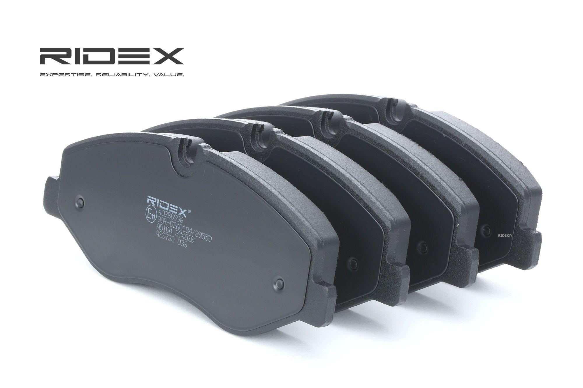 MERCEDES-BENZ MARCO POLO 2020 Bremsbelagsatz - Original RIDEX 402B0996 Höhe: 74,8mm, Breite: 184,1mm, Dicke/Stärke: 20,8mm
