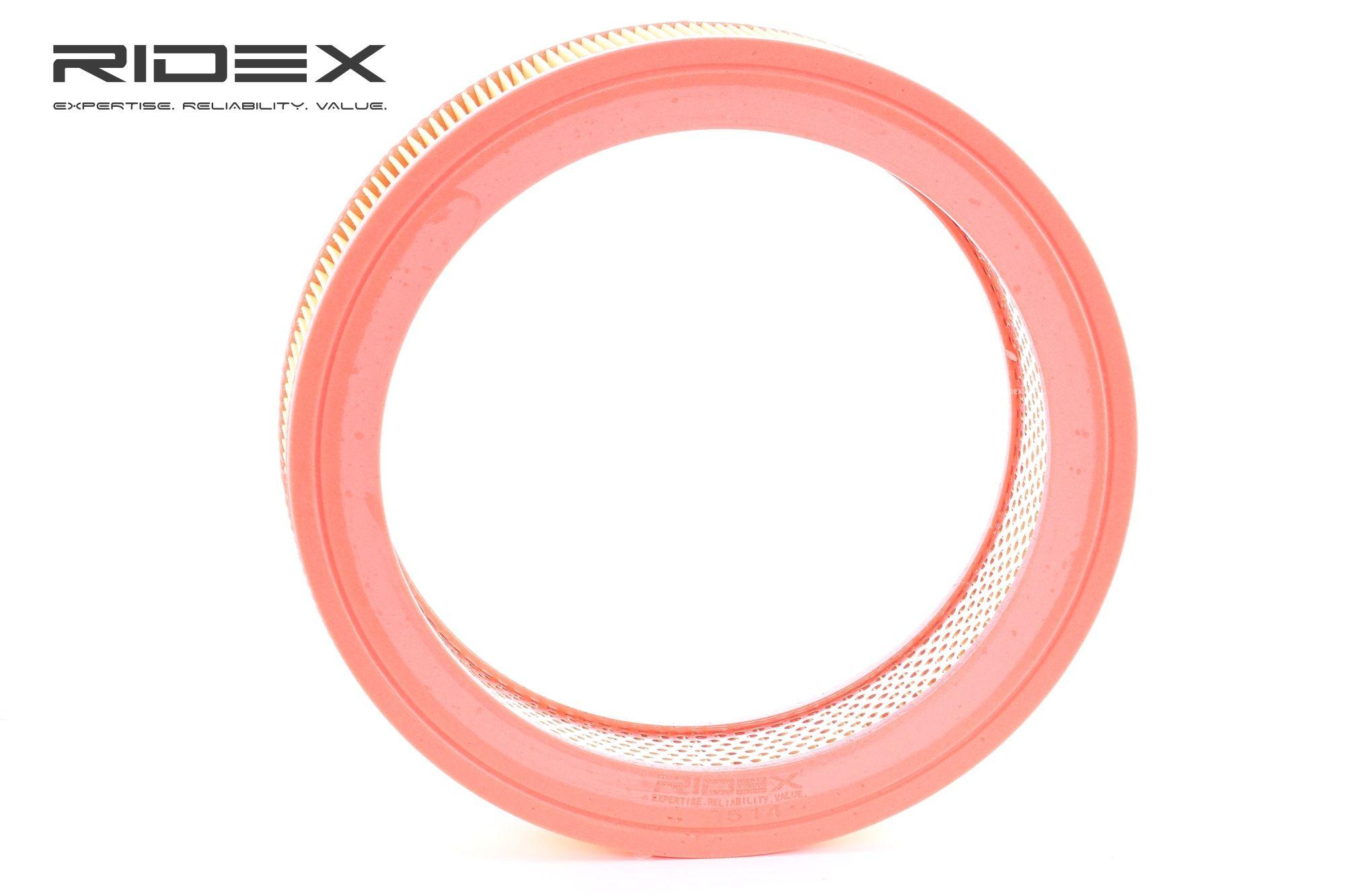 RIDEX: Original Motorluftfilter 8A0514 (Höhe: 61mm)