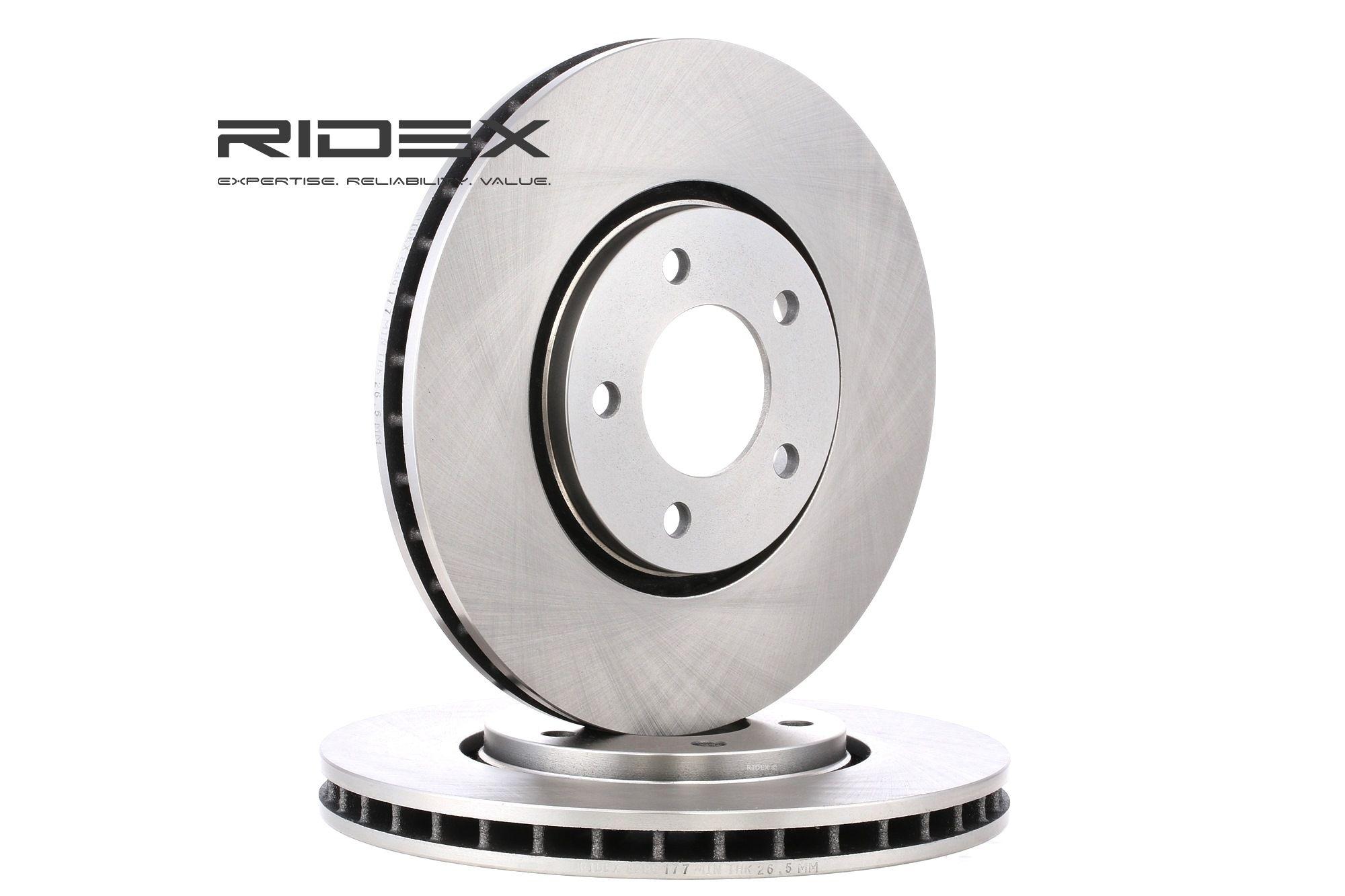 RIDEX: Original Bremsscheiben 82B0177 (Ø: 302mm, Lochanzahl: 5, Bremsscheibendicke: 28mm)