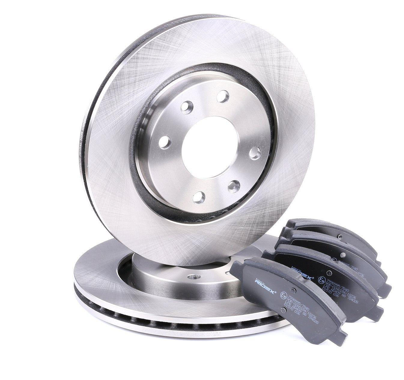 RIDEX: Original Bremsscheiben und Beläge 3405B0014 (Bremsscheibendicke: 22mm)