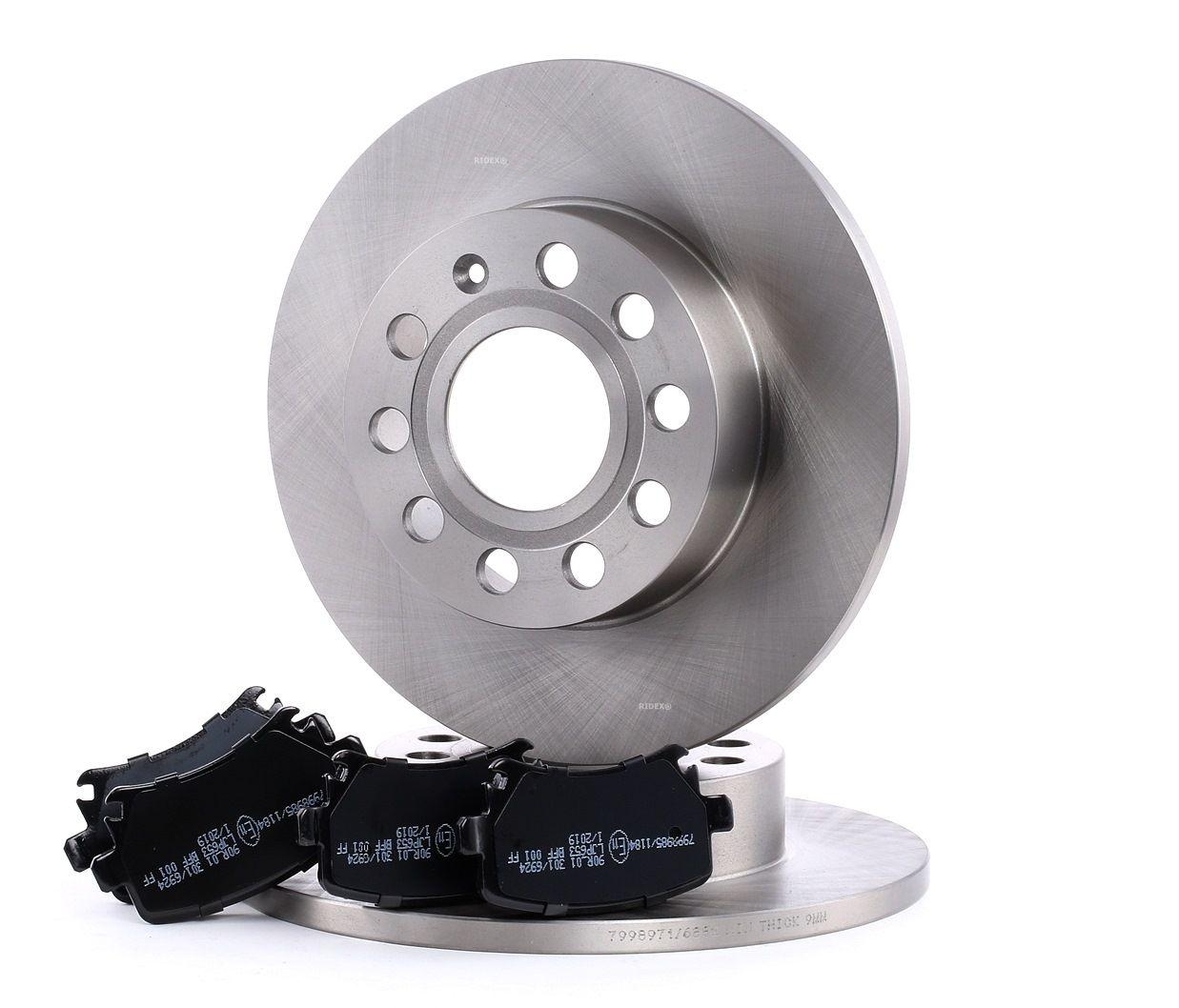 IVECO MASSIF Bremsscheiben und Klötze - Original RIDEX 3405B0061 Bremsscheibendicke: 12mm