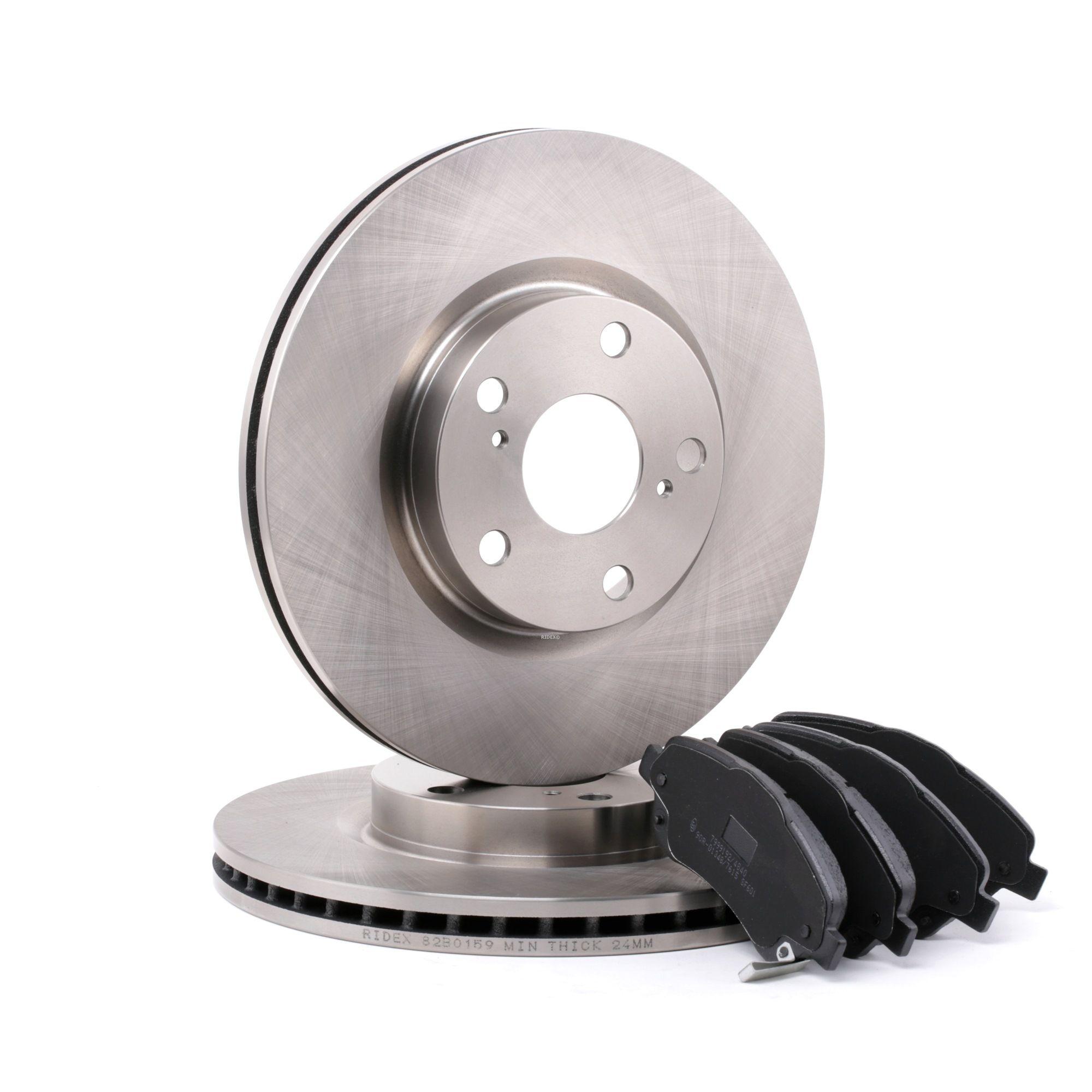 RIDEX: Original Bremsscheiben und Klötze 3405B0114 (Bremsscheibendicke: 26mm)