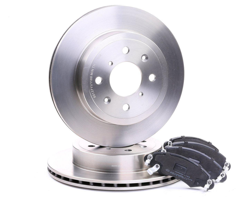 RIDEX: Original Bremsscheiben und Beläge 3405B0145 (Bremsscheibendicke: 17mm)