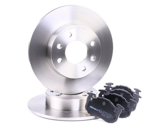RIDEX 3405B0128 : Disques et plaquettes de freins pour Twingo c06 1.2 2007 58 CH à un prix avantageux