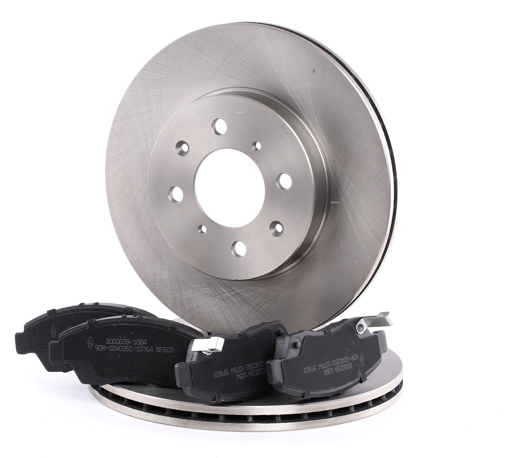 Buy original Brake discs and pads set RIDEX 3405B0088