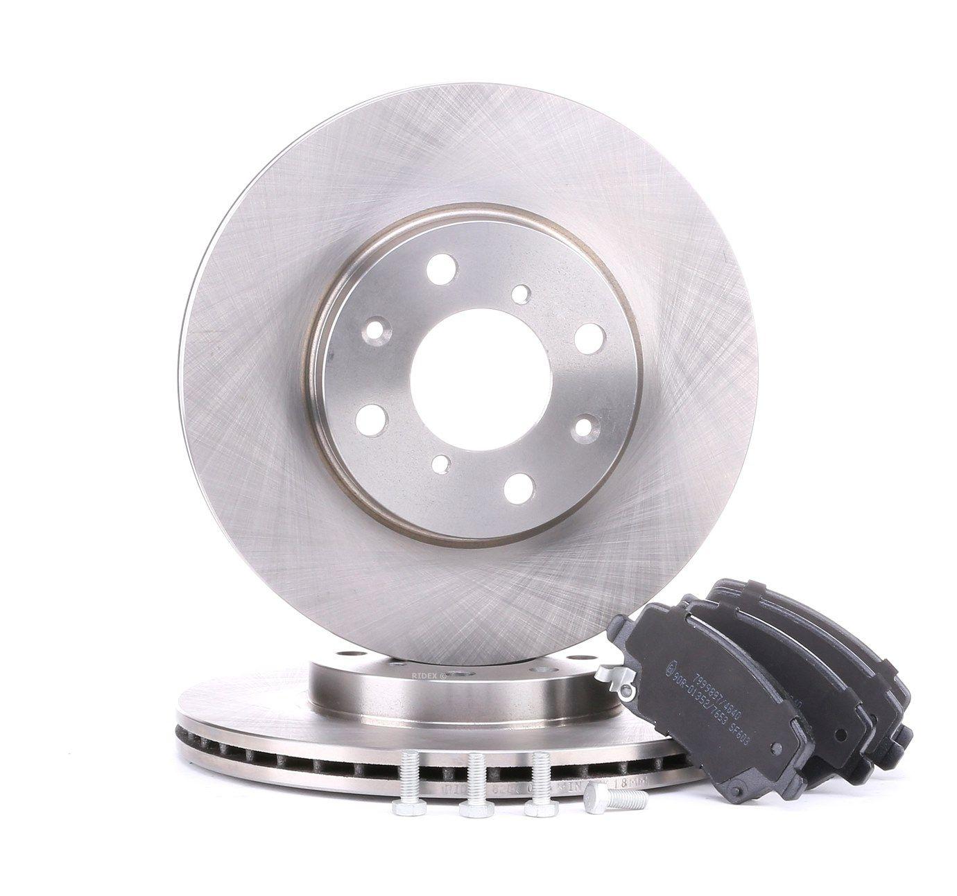 RIDEX: Original Bremsscheiben und Bremsbeläge 3405B0049 (Bremsscheibendicke: 20mm)