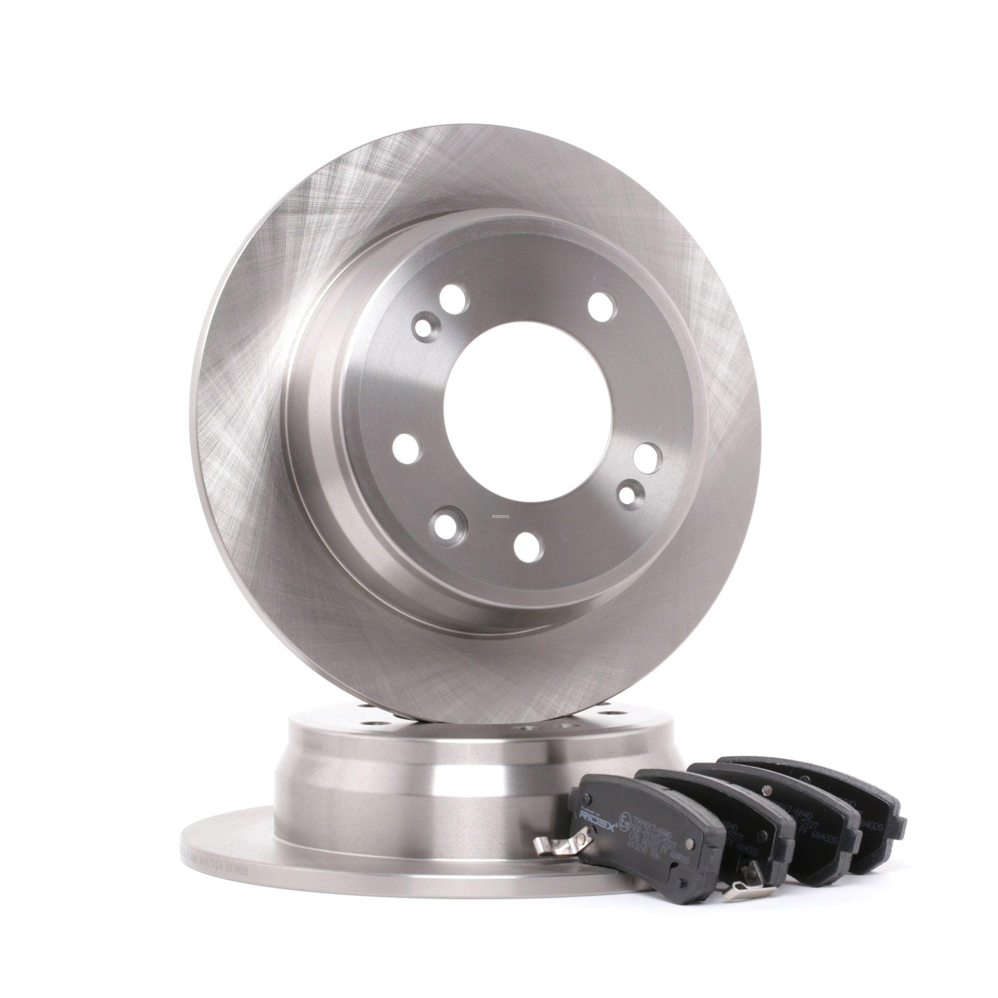 RIDEX: Original Bremsscheiben und Klötze 3405B0066 (Bremsscheibendicke: 10, 15,3mm)