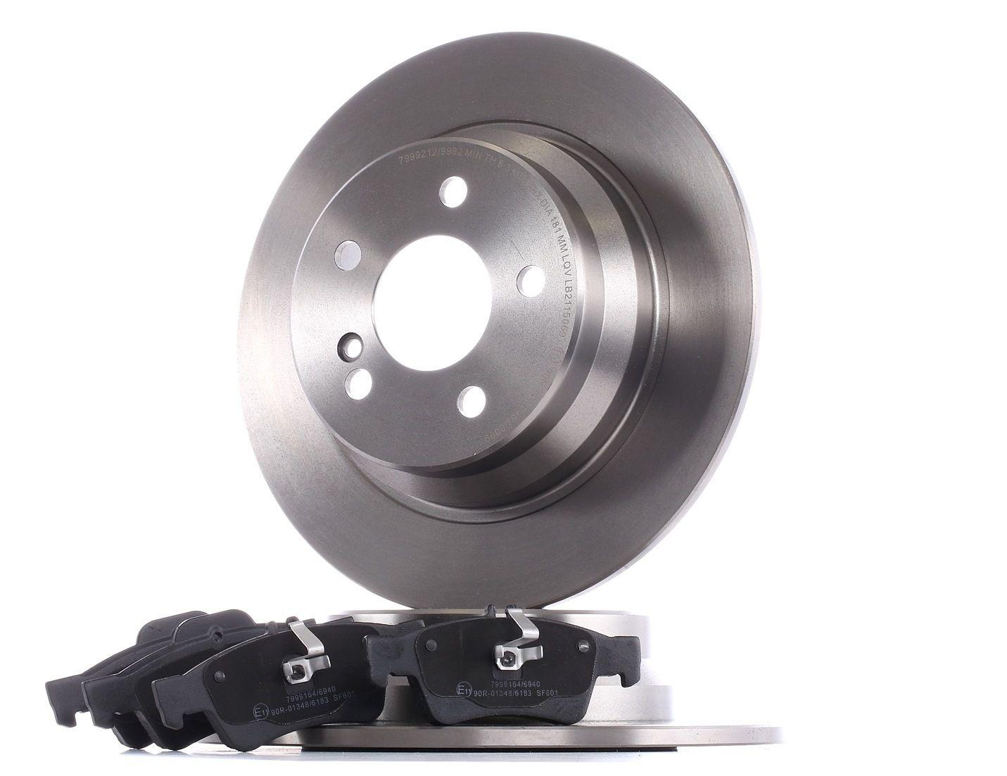 RIDEX: Original Bremsscheiben und Beläge 3405B0163 (Bremsscheibendicke: 10mm)