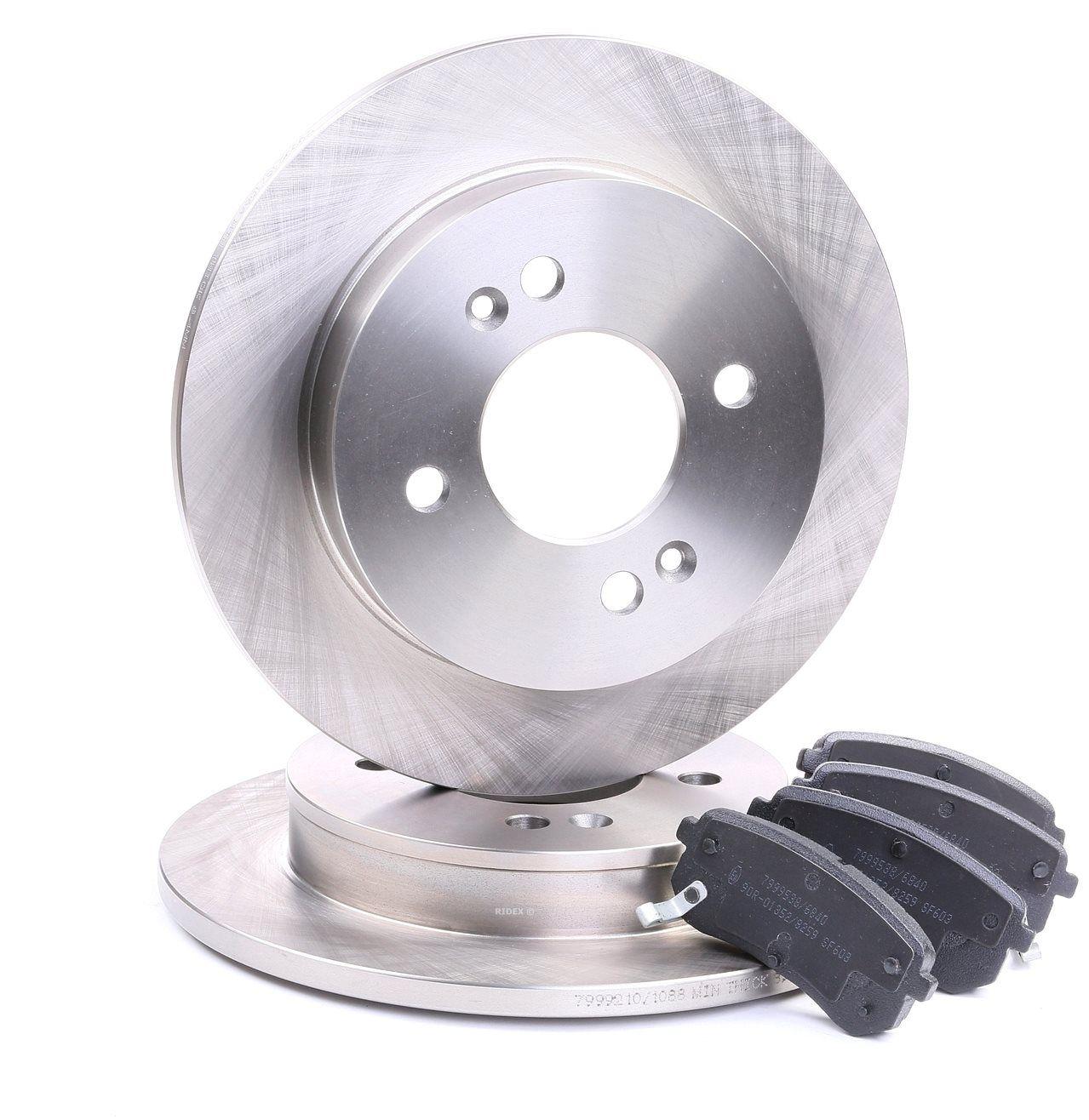 RIDEX: Original Bremsscheiben und Klötze 3405B0111 (Bremsscheibendicke: 10mm)