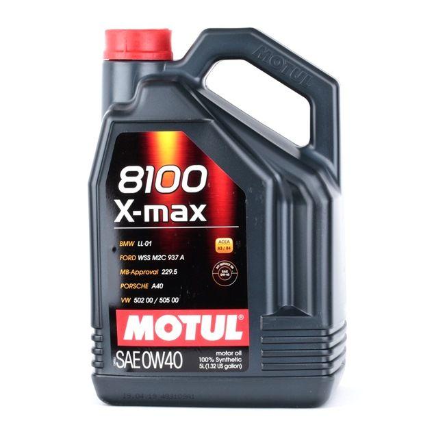 Qualitäts Öl von MOTUL 3374650250717 0W-40, 5l, Synthetiköl