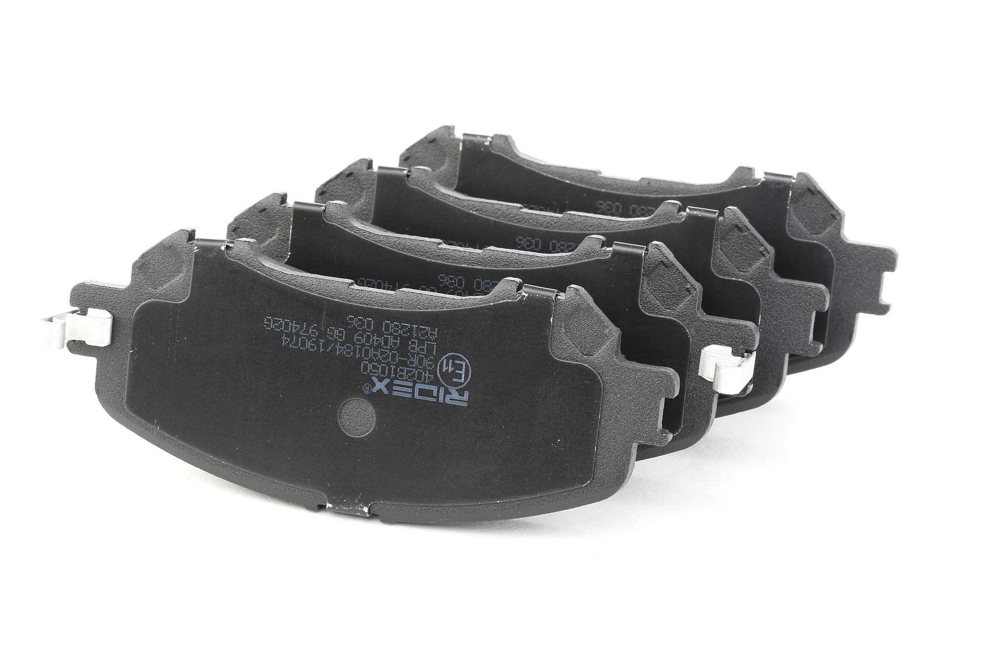 NISSAN ROGUE 2013 Bremsklötze - Original RIDEX 402B1050 Höhe: 59,2mm, Breite: 141,6mm, Dicke/Stärke: 18,5mm