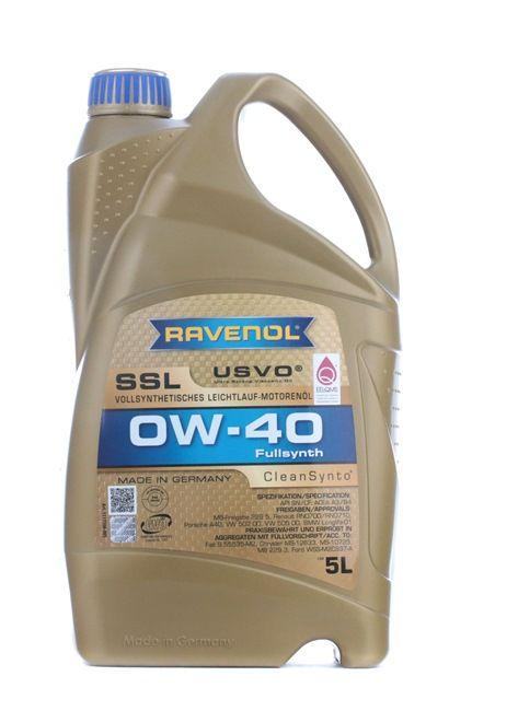 d'origine RAVENOL Huile a moteur 22108314083759408375 0W-40, 5I, Huile synthétique