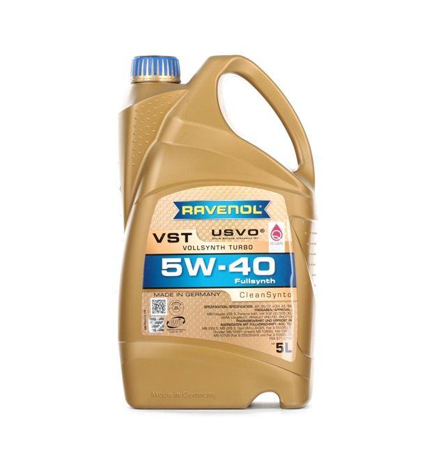 Original RAVENOL Auto Öl 22108314083913408391 5W-40, 5l, Synthetiköl