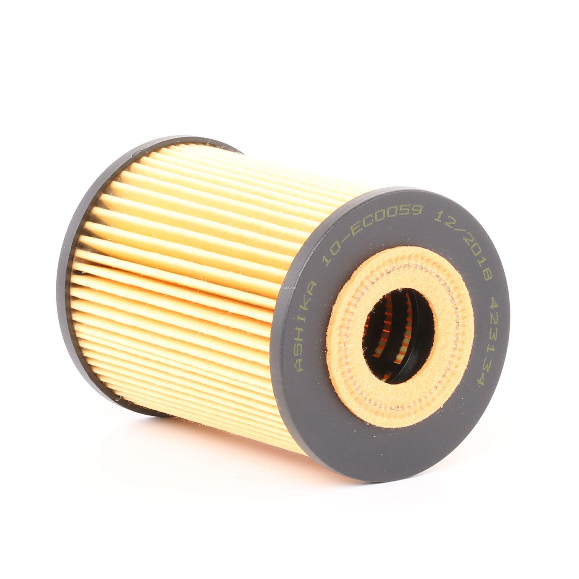 10-ECO059 ASHIKA Filtereinsatz Innendurchmesser: 26mm, Ø: 63mm, Länge: 83mm, Länge: 83mm Ölfilter 10-ECO059 günstig kaufen