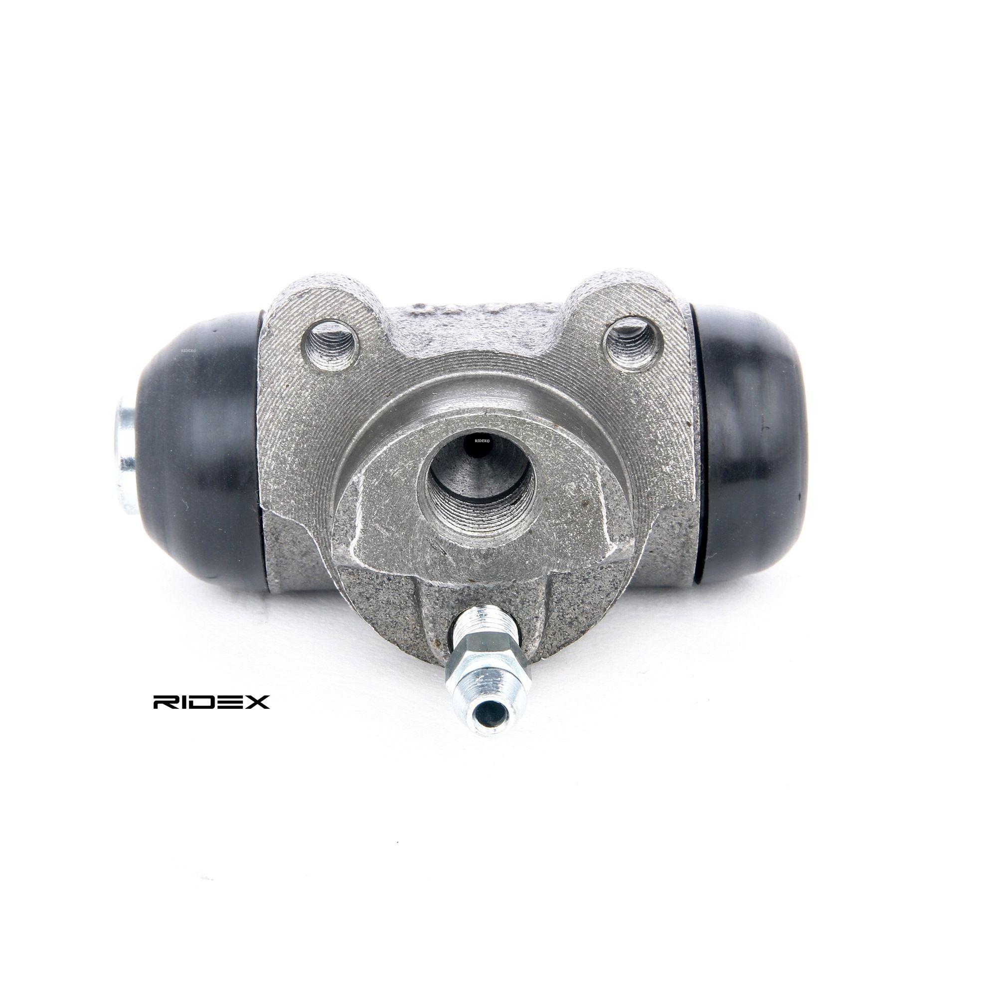 RIDEX: Original Bremszylinder Hinten 277W0004 (Ø: 22,2mm)