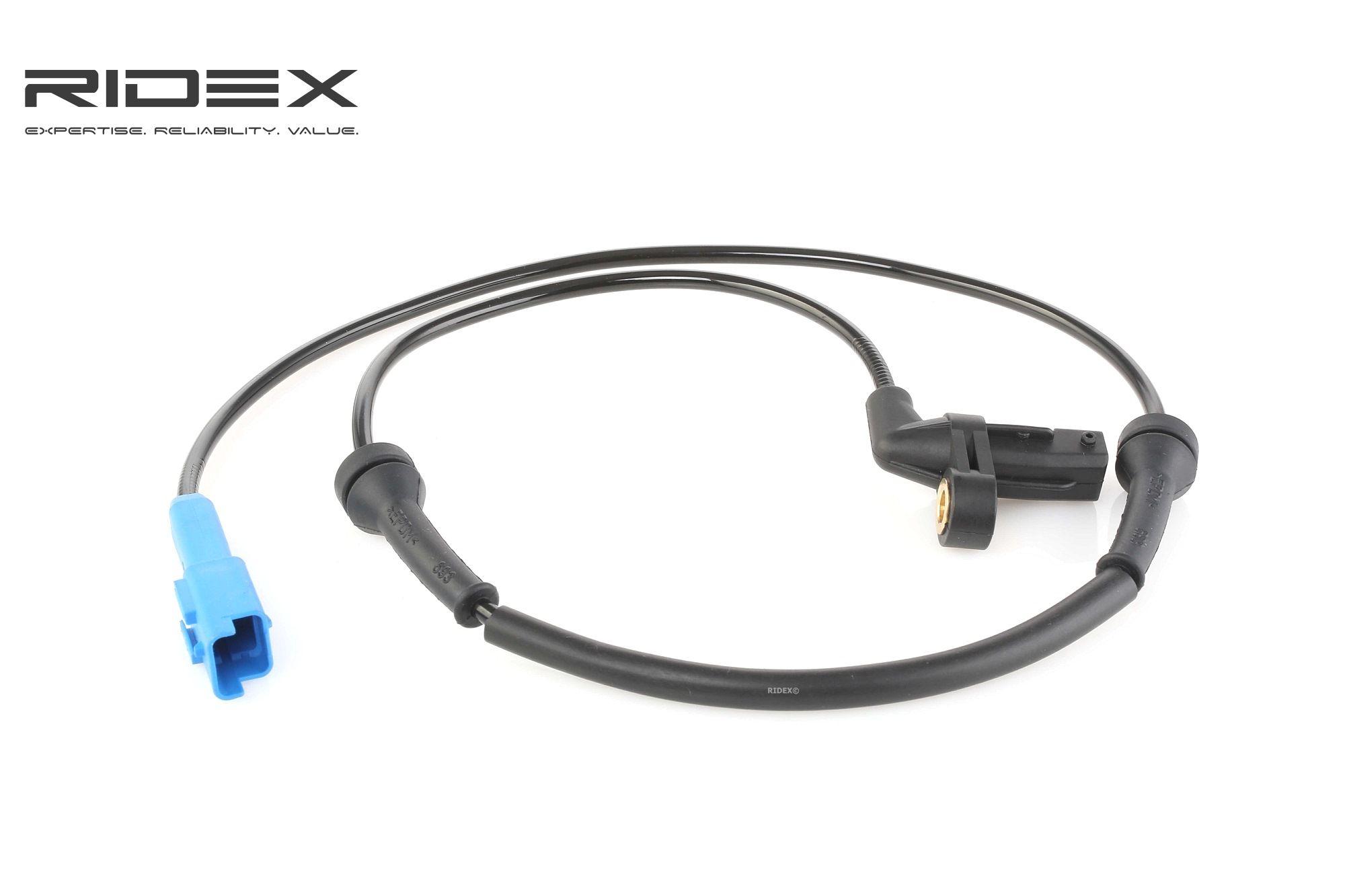 Origine Capteur de roue abs RIDEX 412W0134 (Longueur coque: 865mm, Nombres de pôles: 2pôle)