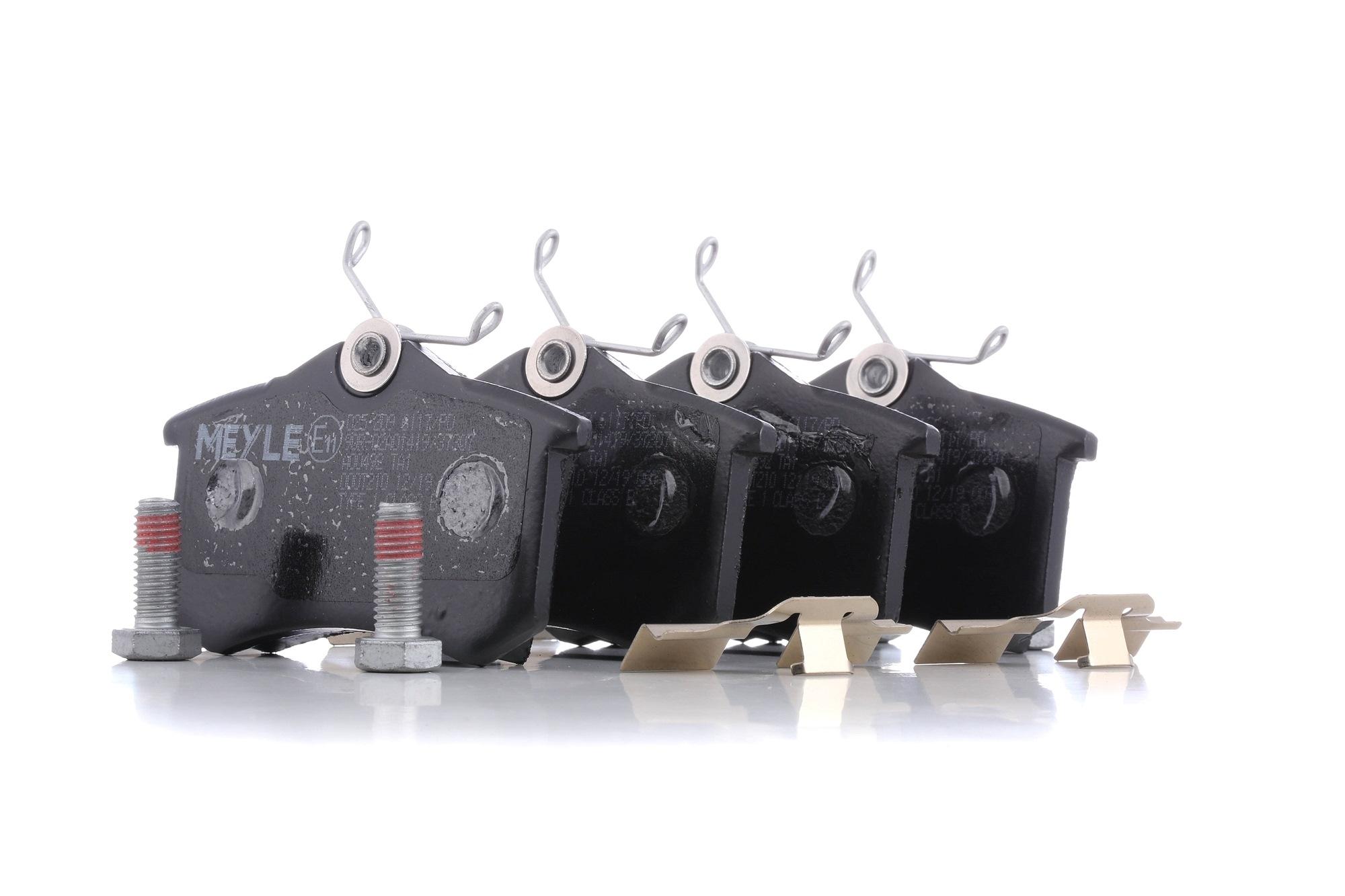20961 MEYLE MEYLE-PD Quality, Hinterachse, nicht für Verschleißwarnanzeiger vorbereitet, mit Anti-Quietsch-Blech, mit Schrauben, mit Zubehör Höhe: 52,8mm, Breite: 87,1mm, Dicke/Stärke: 17,2mm Bremsbelagsatz, Scheibenbremse 025 209 6117/PD günstig kaufen